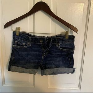 Aeropostale dark wash jean shorts